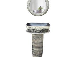 Lavabo sứ cây LPTF019