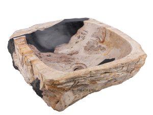 Lavabo gỗ hóa thạch LWB01