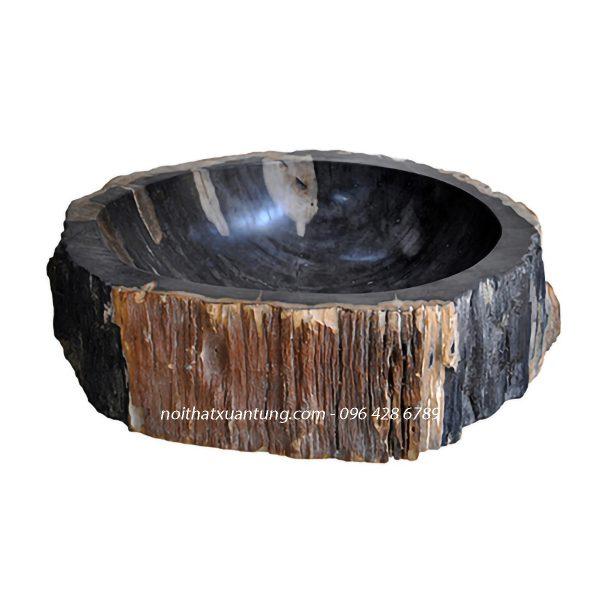 Lavabo gỗ hóa thạch LWB02